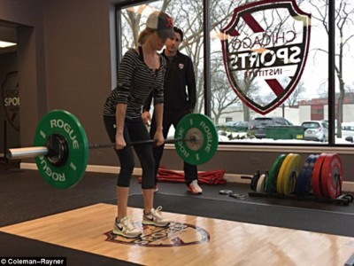 'I'm too skinny!' Kristin Cavallari's personal trainer reveals details of her gruelling 300lb weight lifting workouts as she goes on mission to bulk up