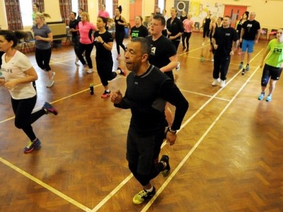 Fitness enthusiasts take part in world record attempt