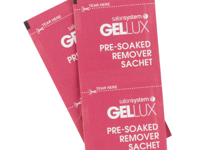 SALON SYSTEM LAUNCHES NEW GELLUX PRE-SOAKED REMOVER SACHETS Saving therapist's time and money Brand